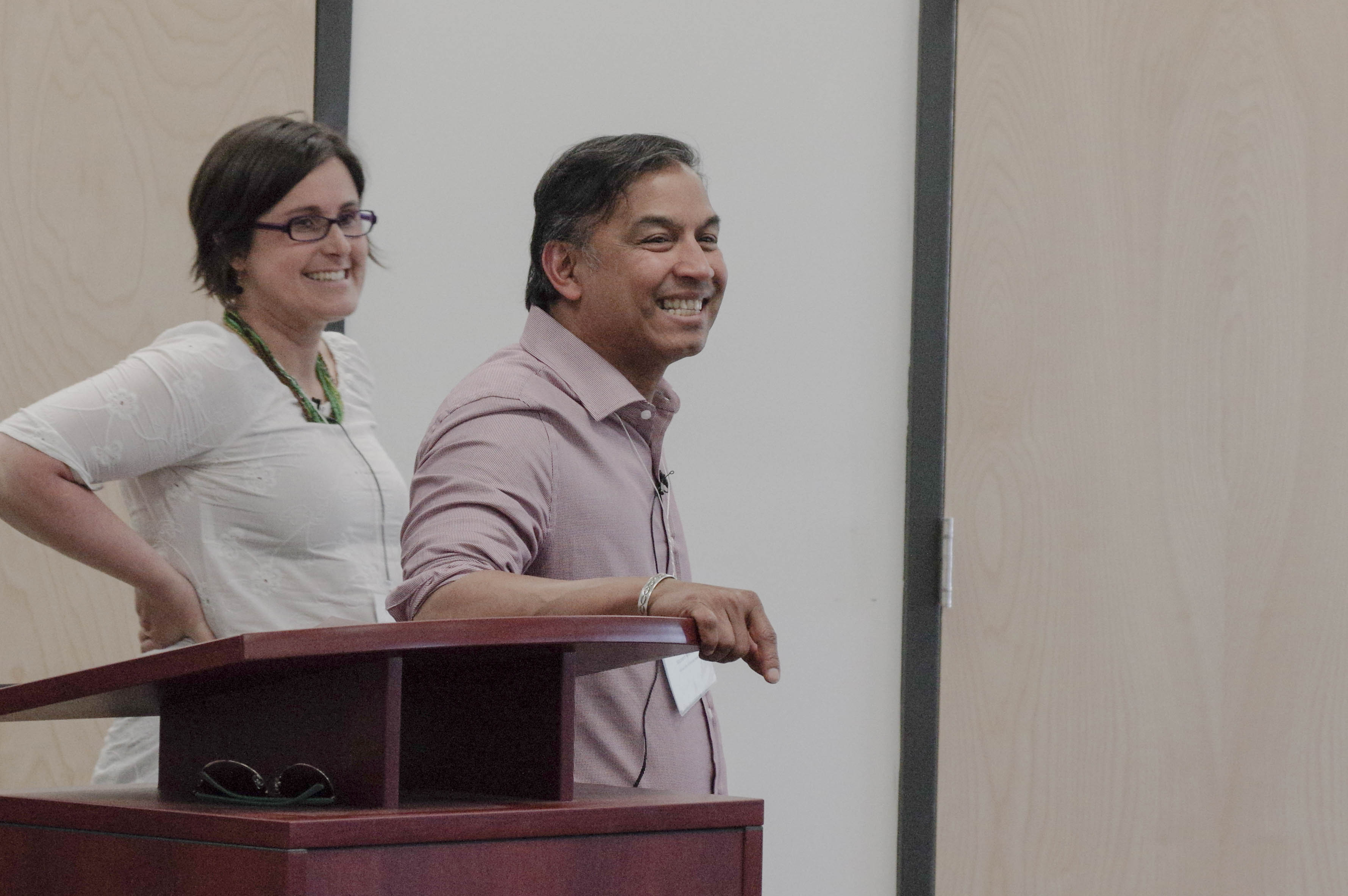 Dr. Rachel Engler-Stringer and Dr. Nazeem Muhajarine at Food Environments in Canada.