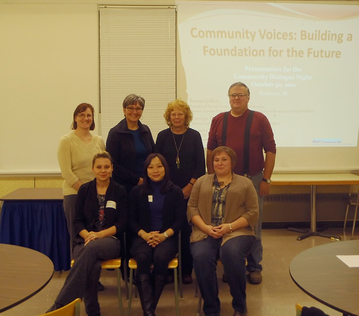 The team for the Community Voices project in Rosetown