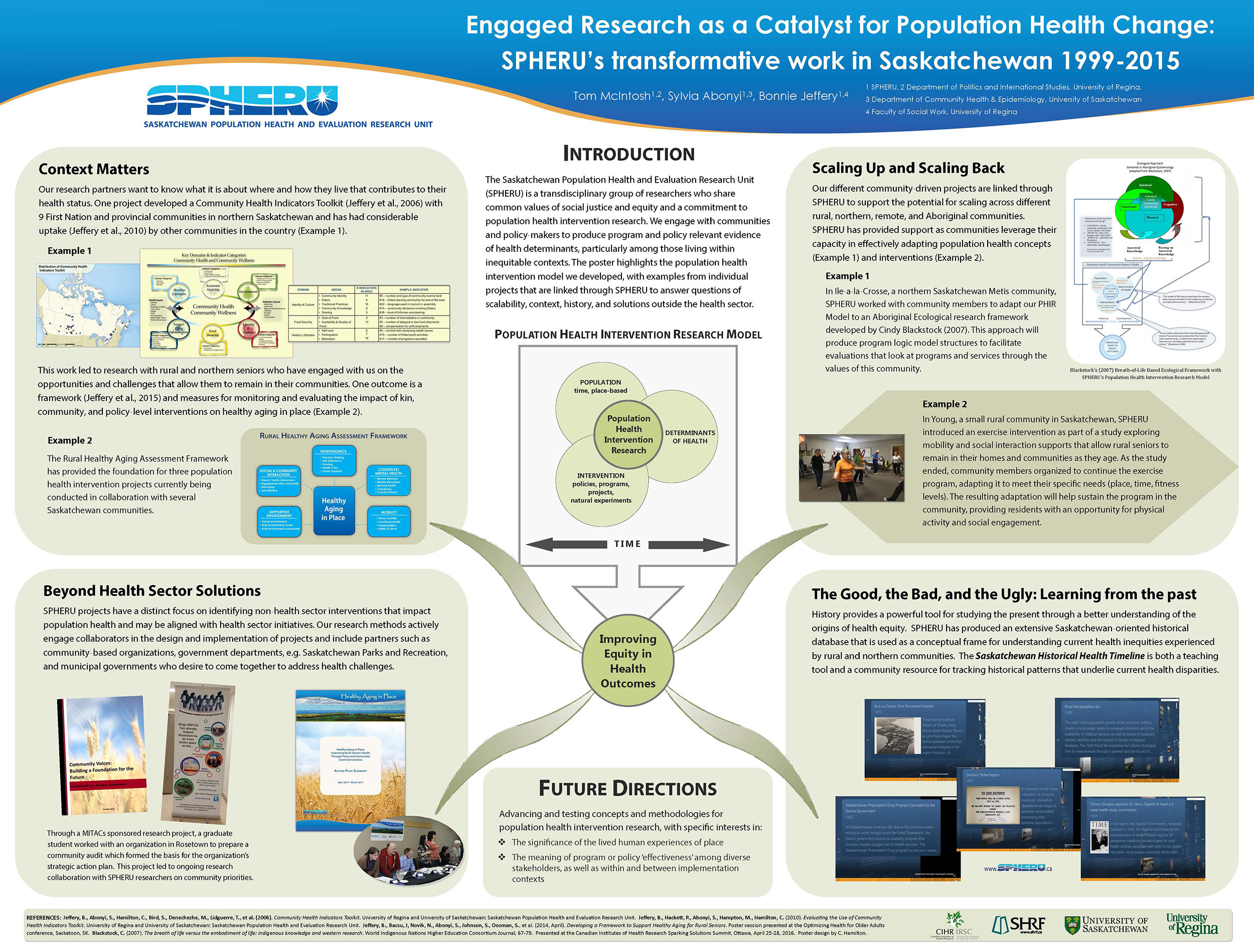 This is one of two posters that were presented at the CIHR Sparking Solutions conference in Ottawa.