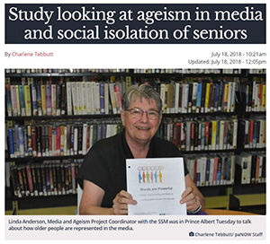 Linda Anderson recently spoke to paNOW regarding a RISC project about how older adults are perceived in the media.